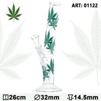 Leaf Multi Leaf Hangover Glass Bong - H:26cm Ø:32mm